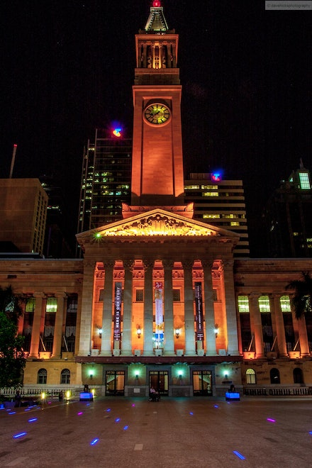 Brisbane Town Hall, QLD - In April 2013 I decided to go out to Southbank and surrounds and give night photography a go.
