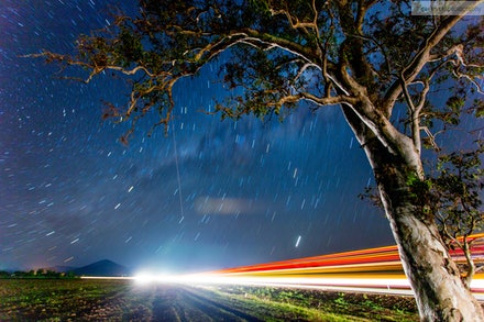 Stars and Light Trails 6, Scenic Rim, QLD - I went out for an overnight trip 02-03 Oct 13 to the Scenic Rim to specifically get some night shots away from...