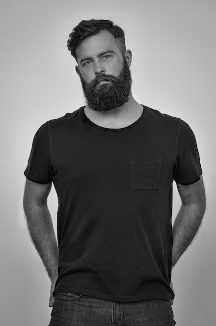 Shane - More of your hipster, bearded, black and white look going on here.