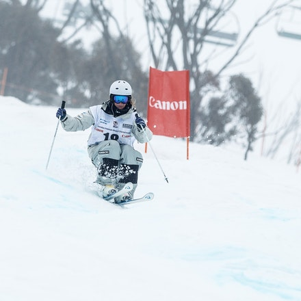 140819_Moguls_5767 - Athlete competing during day 1 of the Canon Australian Freestyle Mogul Championships at Perisher, NSW (Australia) on August 19 2014....