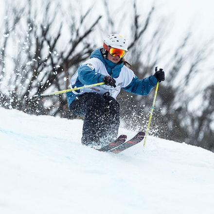 140819_Moguls_5798 - Athlete competing during day 1 of the Canon Australian Freestyle Mogul Championships at Perisher, NSW (Australia) on August 19 2014....