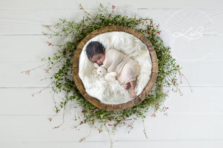 Newborn | Art Composite Image - Beautiful Newborn and Maternity portraits by Logan City photographer Kerry Bergman in her Edens Landing studio.