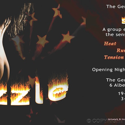 Sizzle Postcard - DL card created for the Adelaide Fringe Festival.