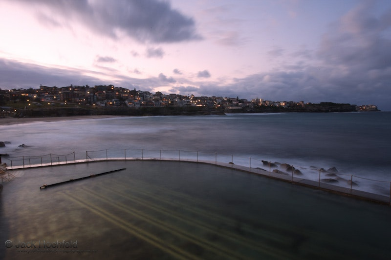 Bronte Beach and Pool, Australia - An early evening shot of Bronte beach and pool;