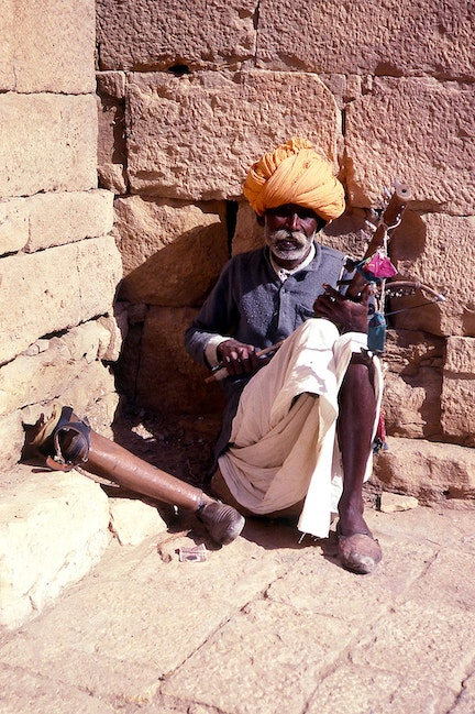 One Legged Busker, Jaisalmer Fort, Rajasthan, India
