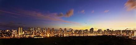 Waikiki Panoramic Dusk