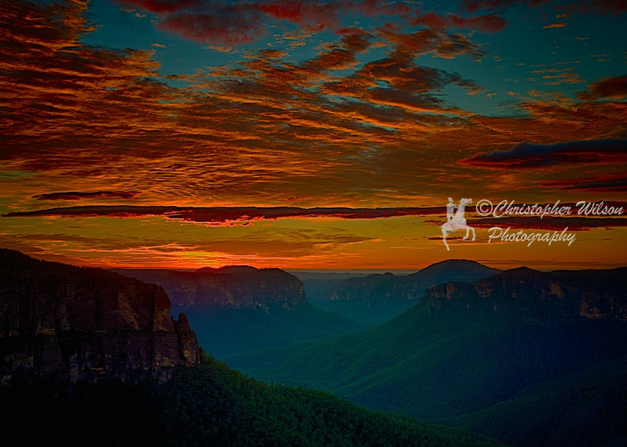 Sunrise for Govett's Leap Lookout - This was taken early on the morning of the 21 May. The sunrise was spectacular. It and the next photo were taken looking...