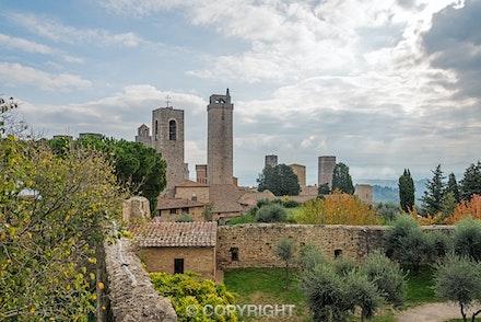 097 San Gimignano 141115-3776-Edit - Early morning looking over the  city of San Gimignano, Tuscany, Italy.