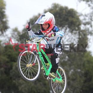 Young BMX star Cameron Gatt - Pictures: Damjan Janevski