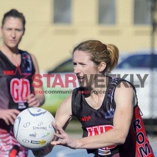 Rdfnldigrom - RDFNL A Grade Netball Diggers Rest v Romsey - July 16, 2016 - Pictures by Shawn Smits