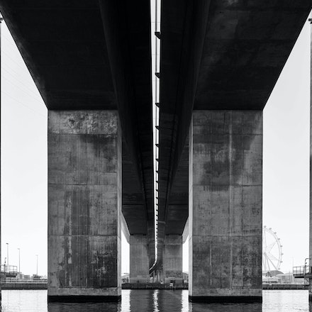 The Bolte - Cruising along the Yarra River under the Bolte Bridge in Melbourne