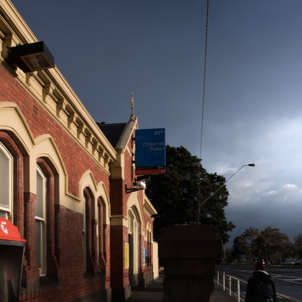 Clifton Hill Train Station - City of Yarra Project - Clifton Hill train station late on a stormy afternoon