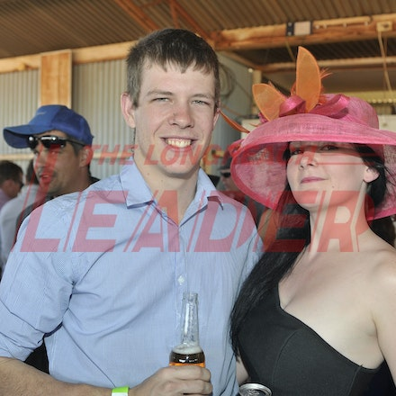 151003_SR22242 - Gary Cutting and Shannen Smith at the Jundah Cup day races, Saturday October 3, 2015.  sr/Photo by Sam Rutherford