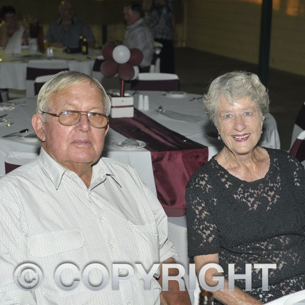 151107_SR24871 - John Miller, Trish at the Sportsmans Dinner in Barcaldine, Saturday November 7, 2015.  sr/Photo by Sam Rutherford.
