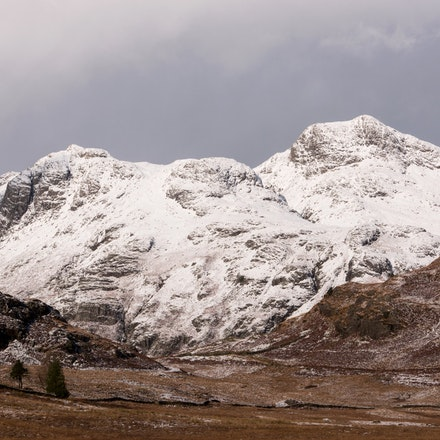 Snow on the Langdale Pikes